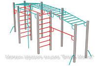 Оборудование для спортивных уличных площадок спортивный комплекс Мега для детей от 12 лет 640х190х252 см