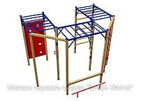 Оборудование для спортивных уличных площадок спортивный комплекс Корабль для детей от 12 лет 390х350х260см