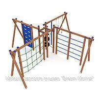 Элемент оборудования для спортивных уличных площадок комплекс Паучок для детей от 12 лет 740х580х260 см