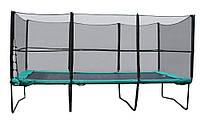 Спортивно-игровой уличный прямоугольный батут с защитной сеткой и лестницей для детей до 100 кг 457х305 см