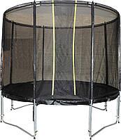 Спортивно-игровой уличный влагостойкий батут с защитной сеткой для детей и взрослых до 100 кг VIP BLACK 244 см