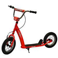 Самокат для детей и взрослыхScooter с ручным тормозом (КРАСНЫЙ) арт. 2-047-R