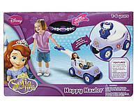 Детская Игровая Машинка-Каталка для девочек 2в1 Счастливый перевозчик, тележка Софии Disney, Jakks Pacific