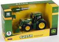 Детский Игровой Конструктор для мальчиков Машинка Трактор зеленый с отверткой из пластика Klein John Deere