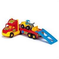 Игрушка Развивающая Детская Для Мальчика Машинка Эвакуатор с маленьким трактором подвижный 77 см Wader Вадер