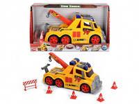 Игрушка Детская Для Мальчиков Машинка для дорожных работ со звуковыми и световыми эффектами Dickie Toys