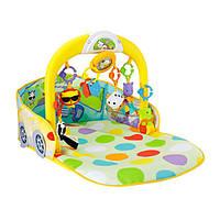 Детский Развивающий Музыкальный Обучающий Игровой комплекс-коврик с 6 игрушками Кабриолет 3 в 1 Fisher-Price