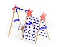 Детский Спортивно-игровой комплекс для детской площадки Микс Качель без сидения с лазалкой 300х163х232 см