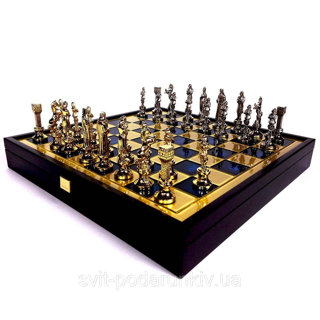 """Шахматы """"Ренессанс"""" в деревянной коробке SK9BLU Manopoulos"""