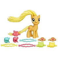 Дитячий Ігровий Набір Травень Літтл Поні зі святковими зачісками з конячкою Эпплджек My Little Pony від HASBRO, фото 1