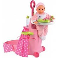 Детский Игровой набор для куклы с чемоданом и кроваткой Раскладной Чемодан Minnie Smoby Смоби 24х61х47 см