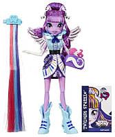 Детская Игровая Кукла для девочек шарнирная с накладной прядью Equestria Girls Twilight Sparkle Твайлайт Спарк