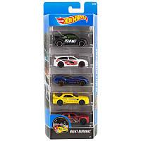 Игрушка Детская Для Мальчиков Подарочный Набор Машинок гоночные 5штук Хот Вилс Night Burnerz Hot Wheels Mattel