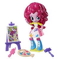 Детский Игровой Набор с Подвижной Мини-куклой для Девочек Художница Пинки Пай Equestria Girls My Little Pony