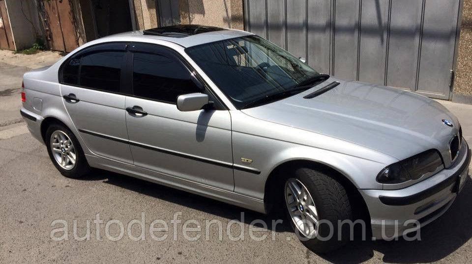Дефлекторы окон (ветровики) BMW 3 (E46) sedan 1998-2005, Cobra Tuning - VL, B21298