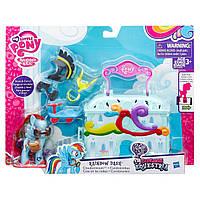 Детский Игровой мини-набор Чемоданчик Май Литл пони Рэйнбоу Дэш Клаудоминиум, серия Манхеттен, My Little Pony