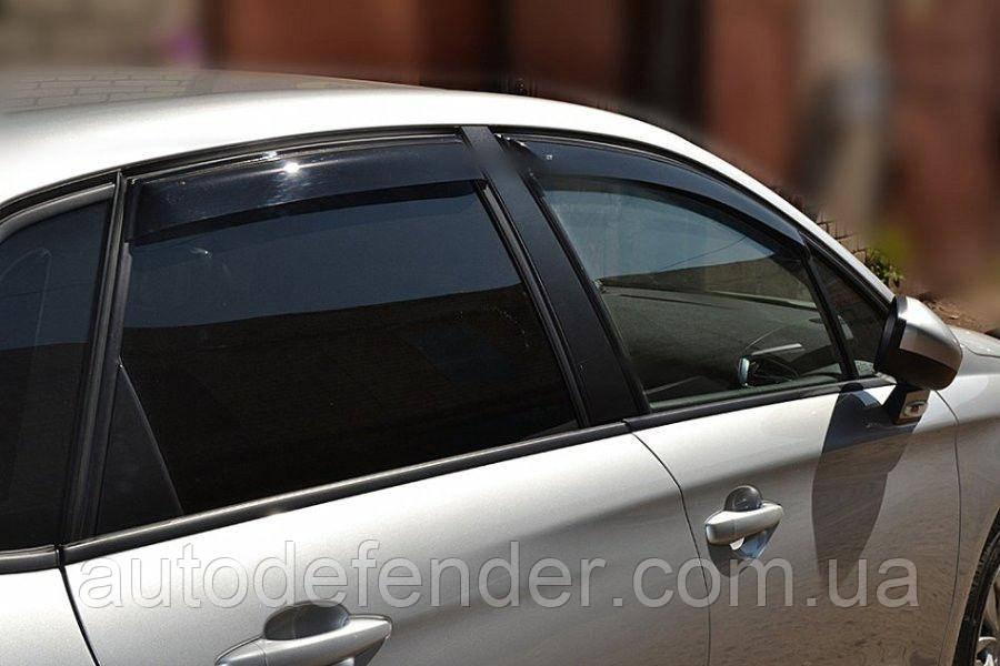 Дефлекторы окон (ветровики) Citroen C4 2012- 4d sedan, ANV - Cobra Tuning, C42012