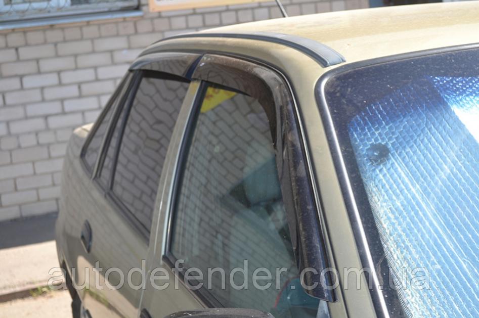 Дефлекторы окон (ветровики) Daewoo Nubira sedan/hatchback 1997-2003, Cobra Tuning - VL, D10993