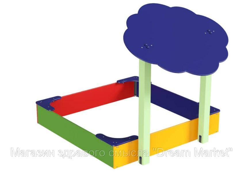 Защитный Элемент Навес Тучка для детской песочницы или площадки с двумя деревянными опорами 150х150х125 см