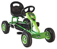 Современный веломобиль с камерными колесами для детей от 2-х до 8 лет до 45 кг Childhood зеленый 84х46х45 см