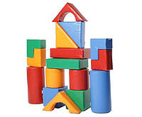Детский Напольный Конструктор Строитель-7 из 16 геометрических мягких модулей для дома, игровых центров, школ, фото 1