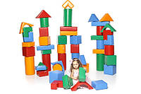 Мягкий Напольный Конструктор Строитель-1 Мини из 50 геометрических модулей для дома, игровых центров, школ, фото 1