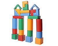 Детский Мягкий Напольный Конструктор Строитель-3 Мини 24 геометрических модуля для дома, игровых центров, школ, фото 1