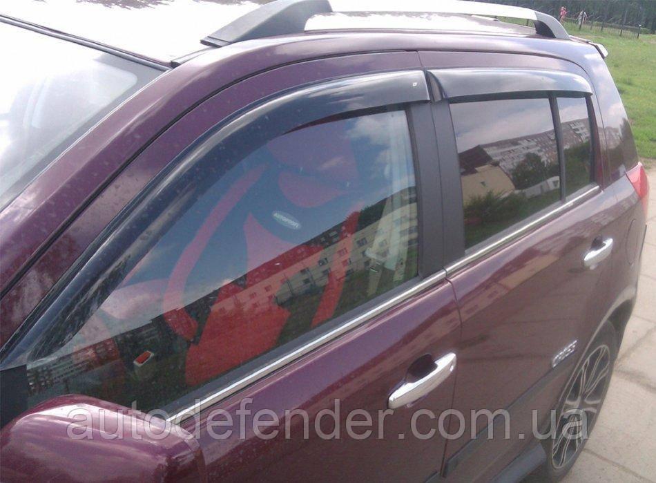 Дефлекторы окон (ветровики) Geely MK Cross 2010- hatchback, ANV - Cobra Tuning, G10410