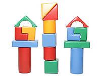Детский Напольный Конструктор Строитель-7 Мини, 16 мягких геометрических фигур для дома, игровых центров, школ, фото 1