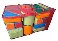 Напольный мягкий развивающий игровой конструктор для детей с 22 модулями для квартиры, дачи или школы Игра