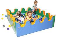 Мягкий детский развивающий игровой модульный сухой бассейн разборный для дома и улицы без шариков Море 1,5 м, фото 1