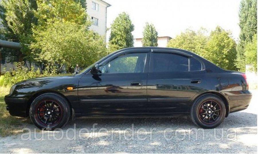 Дефлекторы окон (ветровики) Hyundai Elantra XD sedan 2000-2006, Cobra Tuning - VL, H20200