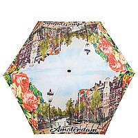 Женский компактный облегченный механический зонт LAMBERTI z75119-1877