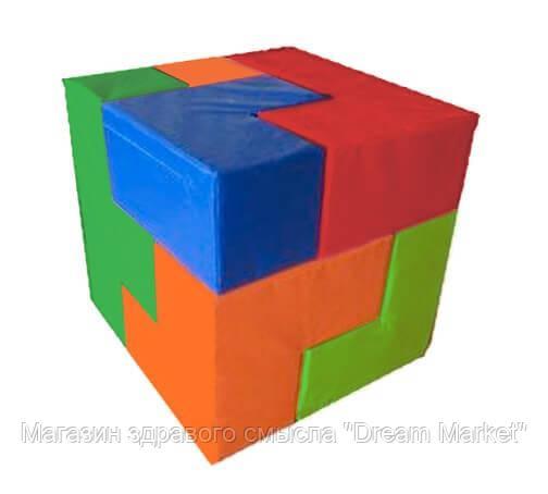 Мягкий Спортивно-игровой модульный набор Кубик Сома для детей, 7 фигур для дома, игровых центров 90х90х90 см