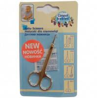 Специальные Детские Ножницы для младенцев с закругленными краями из нержавеющей стали Canpol Babies Канпол