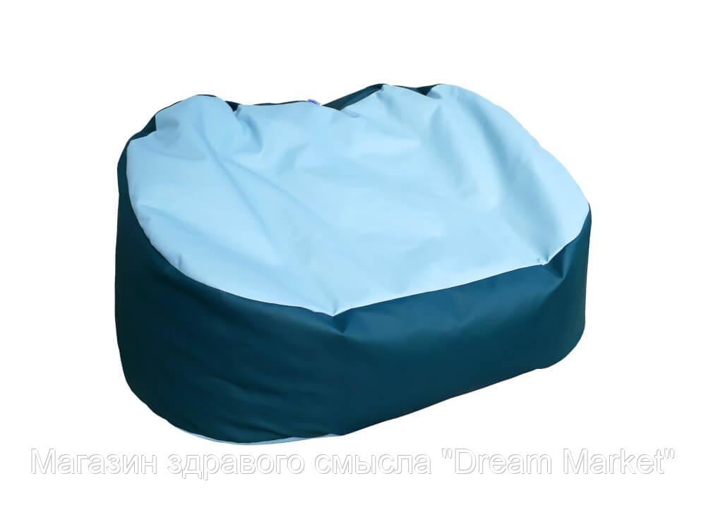 Мягкое кресло-мешок с наполнением шариками для отдыха и работы для квартиры, дачи с ручкой Диван 110х70х80 см