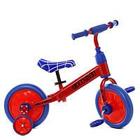 Детский Беговел-велосипед 2в1 для детей от 2х лет с доп колесами Profi Kids (колеса 12 дюймов) арт. М 5453-1*