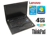 """Ноутбук Lenovo ThinkPad T400 14"""" 4GB RAM 250GB HDD № 2"""
