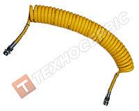 Шланг причепа спіральний жовтий 4527130020 (М22х1.5) 7м Туреччина NAYA (PU) поліуритан