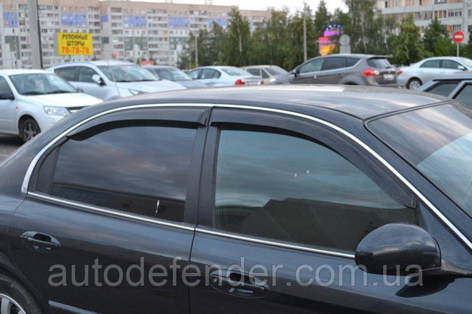 Дефлекторы окон (ветровики) Hyundai Sonata EF 1998-2004, ANV - Cobra Tuning, H21498