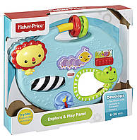 Детская Интерактивная игрушка Мини-центр Друзья из тропического леса голубая с фигурками животных Fisher Price