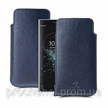Футляр Stenk Elegance для Sony Xperia XA2 Plus Синий