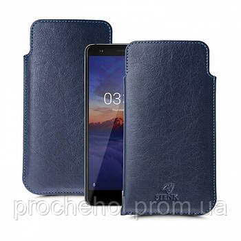 Футляр Stenk Elegance для Nokia 3.1 Синий