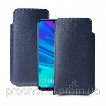 Футляр Stenk Elegance для Huawei P Smart (2019) Синий