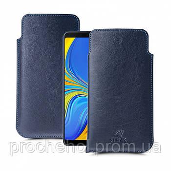 Футляр Stenk Elegance для Samsung Galaxy A9 (2018) Синий