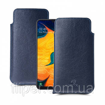 Футляр Stenk Elegance для Samsung Galaxy A30 Синий
