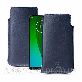 Футляр Stenk Elegance для Motorola Moto G7 Синий