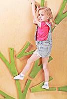 Детская развивающая стенка-скалодром для квартиры с фанерой «Невероятные веточки на каркасе» до 100 кг