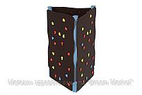 """Детская развивающая трехсторонняя стенка-скалодром на каркасе для уличной площадки """"Альпы"""" 130х130х200 см"""