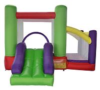 Детский Надувной Батут Soft Space с 2 зонами и горкой для дачи и дома для детей от 3 до 14 лет, 350х310х220 см, фото 1